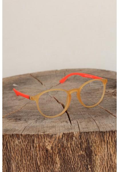 Sarı Renk Oval Çerçeveli Turuncu Renk İmaj Gözlüğü